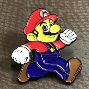 Jewelry - Mario Gaming Enamel Black Tone Pin